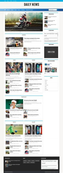 Daily News Blogger Template (Custom)