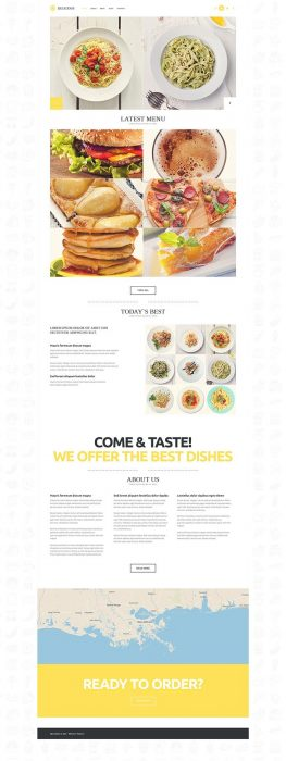 Delicious Modern Cafe Restaurant WordPress Theme (Custom)