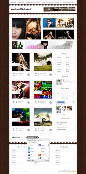 Depositphotos Blogger Template (Custom)