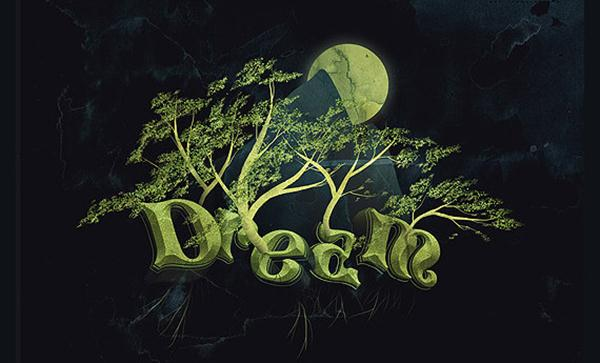 Design Dream Design with 3D Typography (Custom)