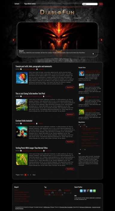 DiabloFun Blogger Template (Custom)