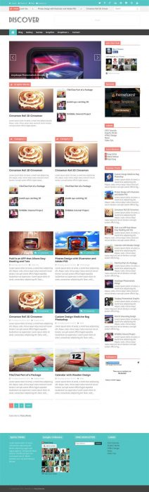 Discover Responsive Blogger Template (Custom)