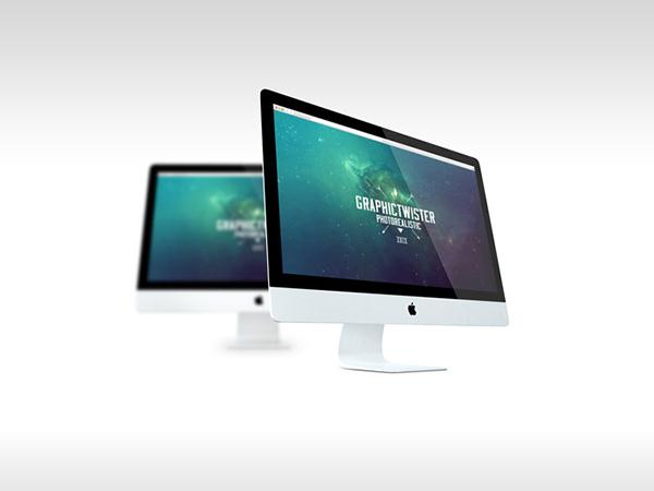 Double iMac Mockup vol.3 (Custom)