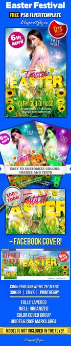 Easter Festival – Free Flyer PSD Template + Facebook Cover (Custom)