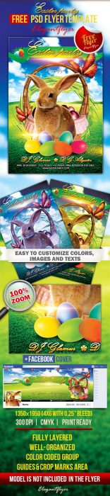 Easter party – Free Flyer PSD Template + Facebook Cover (Custom)