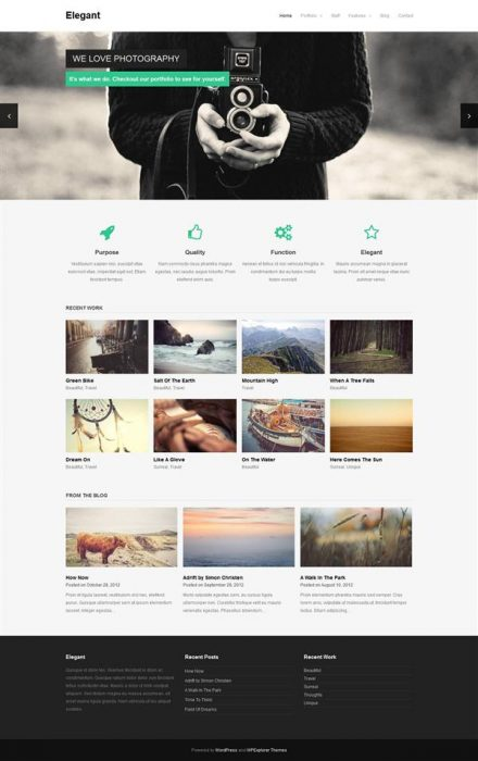 Elegant -  Free WordPress Theme (Custom)