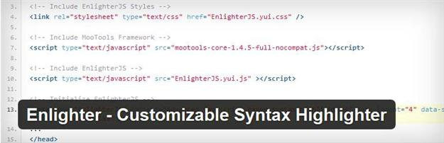 Enlighter Syntax Highlighter (Custom)