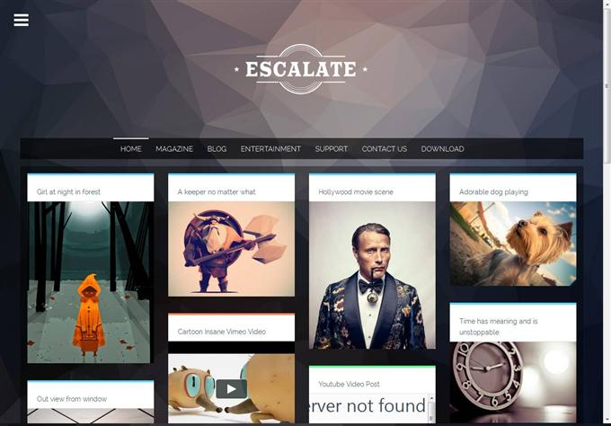 Escalate Blogger Template (Custom)