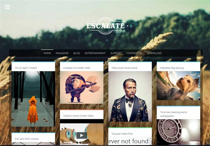 Escalate is a clean and personal Responsive Blogger Template (Custom)