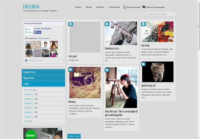 Exelencia Blogger Template (Custom)
