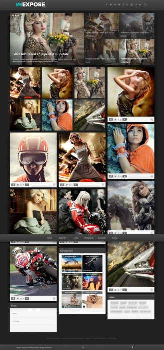 Expose Responsive Blogger Template (Custom)