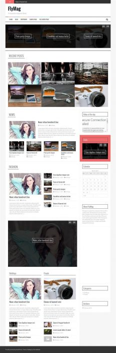 FLYMAG WordPress theme for magazines (Custom)