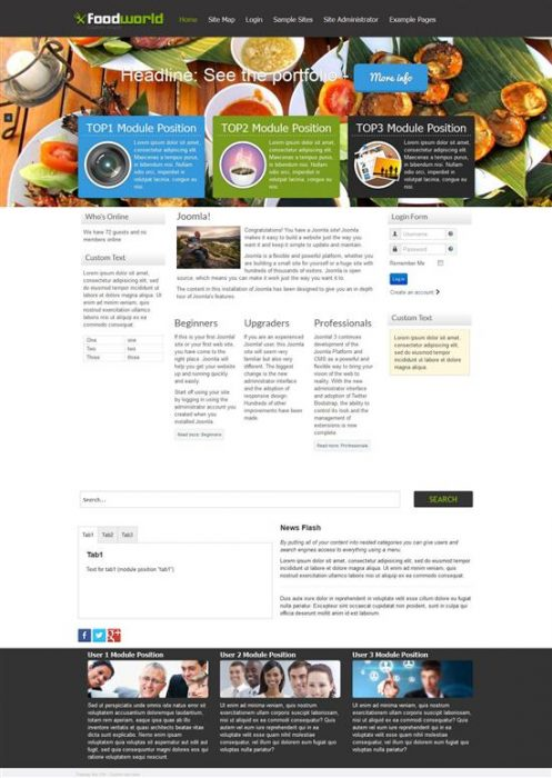 FOODwORLD Best Free Joomla Template (Custom)