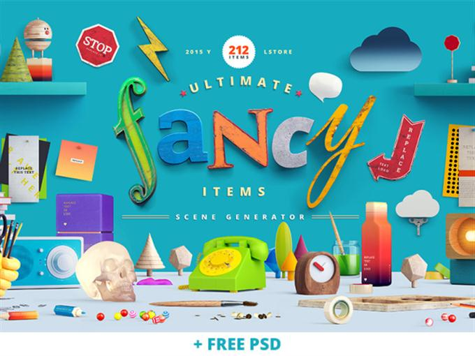 Fancy Items Scene Generator (Custom)