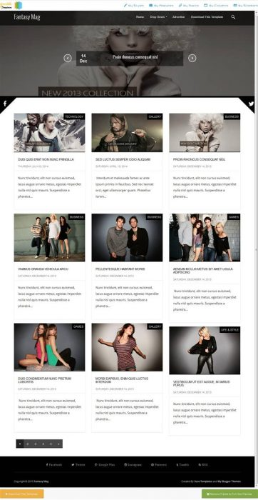 45+ Free Fashion Responsive Blogger Templates - TechClient