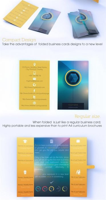 Fastened Blur Business Card & Mini CV Combo V3 (Custom)