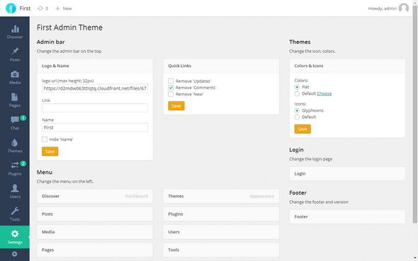 First – WordPress Admin Theme