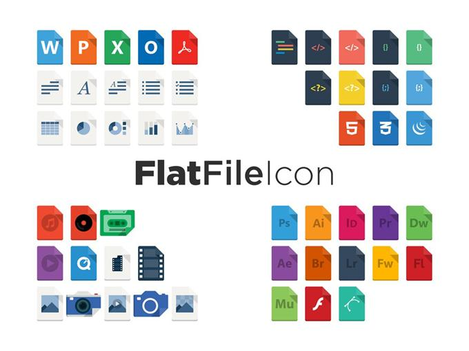 FlatFileIcon (AI Freebie) (Custom)
