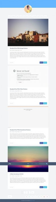 Flex Blogger Template (Custom)