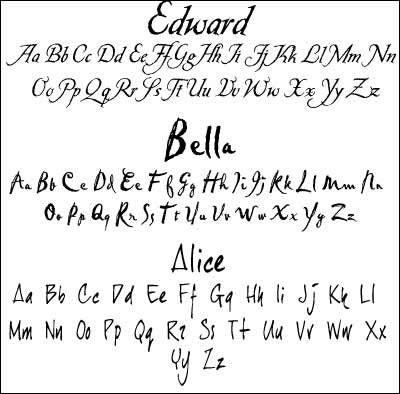 Font Used In Twilight 1