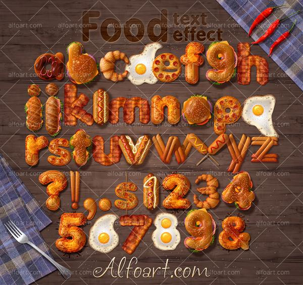 Food Text Effect (Custom)