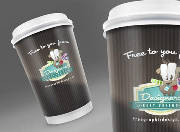 Free Coffee Cup Packaging PSD Mock Up (Custom)