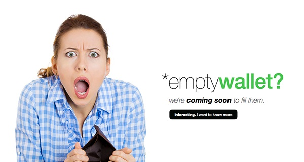 Free Coming Soon Template – Empty Wallet