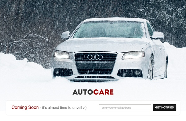 Free Coming Soon Template  Auto Care