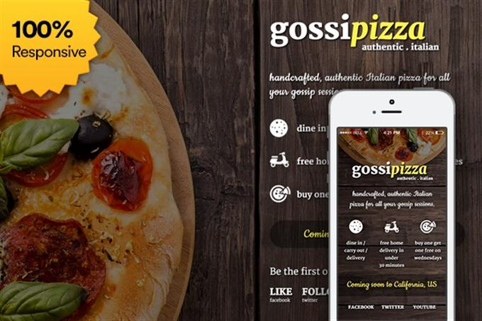 Free Coming Soon Template  Gossipizza (Custom)
