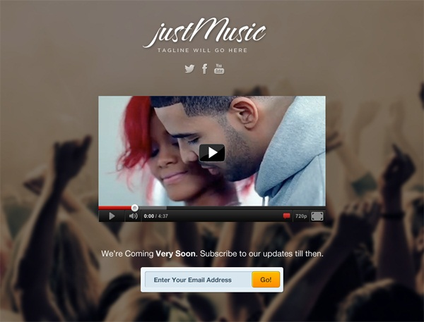 Free Coming Soon Template Just Music