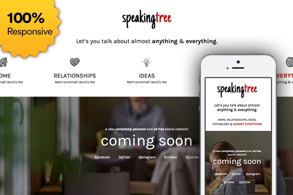 Free Coming Soon Template  Speaking Tree