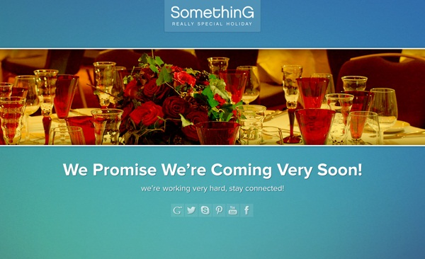 Free Coming Soon Template Special Holiday