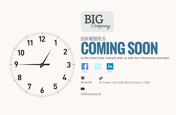 Free Coming Soon Template Time s a Wastin