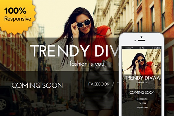 Free Coming Soon Template Trendy Divaa