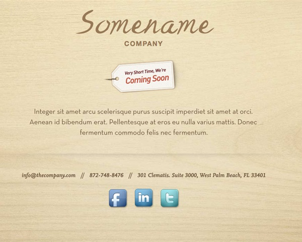 Free Coming Soon Template  Wood Craft