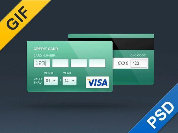 Free Credit Card PSD-Flat and Contour (Custom)