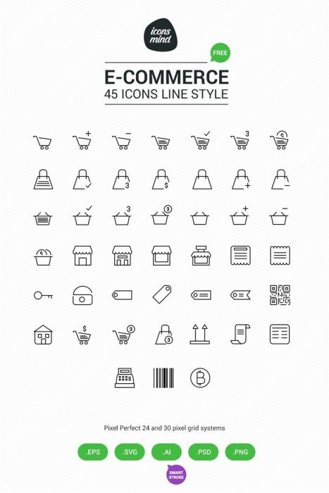 Free E Commerce Icons by Icons Mind (Custom)