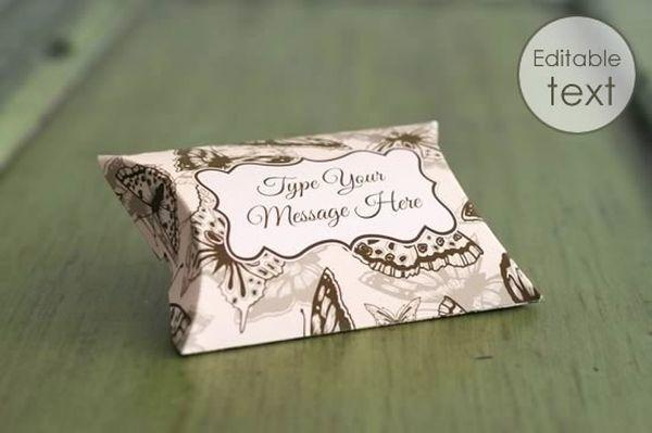 Free Gift Pillow Box Mock-Up (Custom)