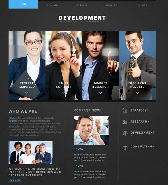 Free Joomla-powered Template for Business Website