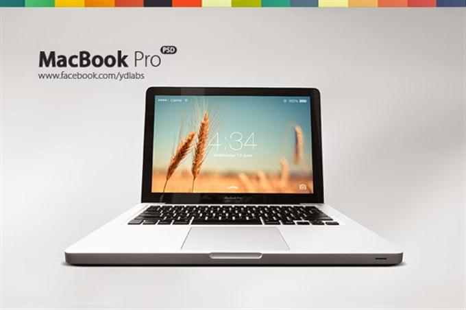 Free MacBook Pro (PSD) (Custom)
