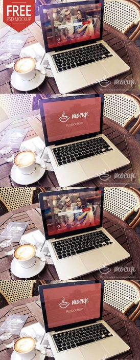 Free Macbook Mockup Terrace (Custom)