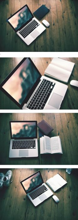 Free Macbook pro photorealistic mockup set (Custom)