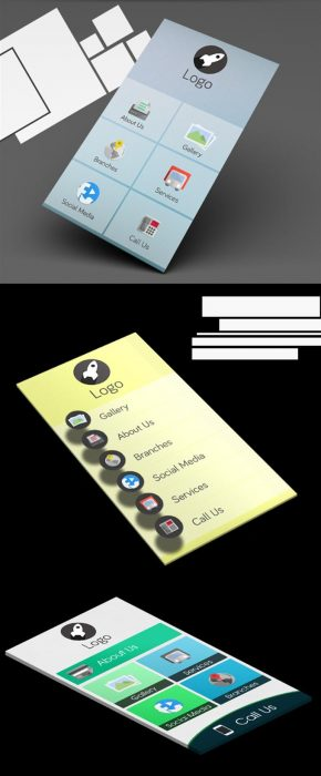 Free Mobile App PSD Templates (Custom)