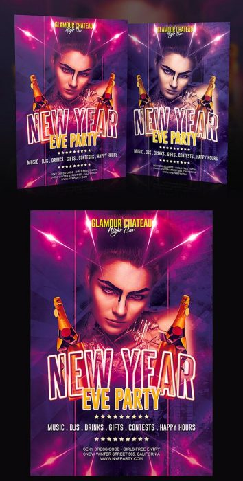 Free New Year Eve Party Flyer (Custom)