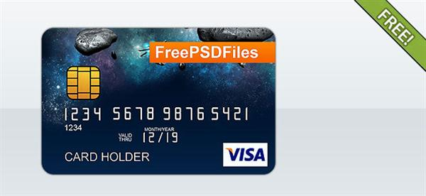 Free PSD Credit Card Template (Custom)