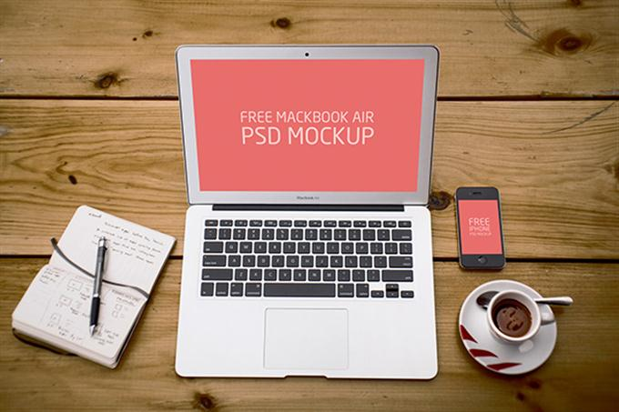 Free PSD Laptop and Phone Mockup (Custom)