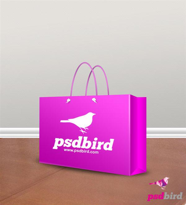 Free Paper Bag – Shopping Bag Mockup PSD (Custom)