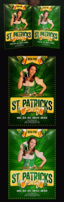 Free St. Patricks Party Flyer (Custom)
