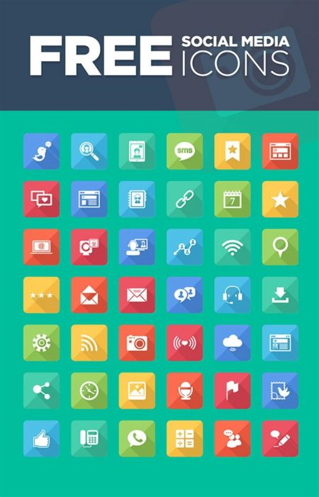 Free Vector Social Media Icons Set (Custom)