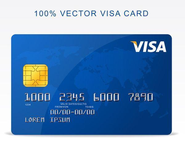 Free Vector Visa Credit Card (Custom)